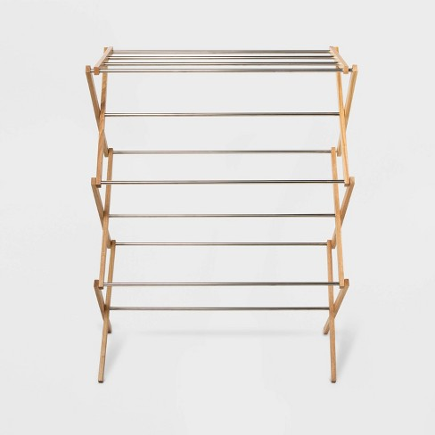 Rubber Wood and Stainless Steel Drying Rack - Room Essentials™ - image 1 of 2