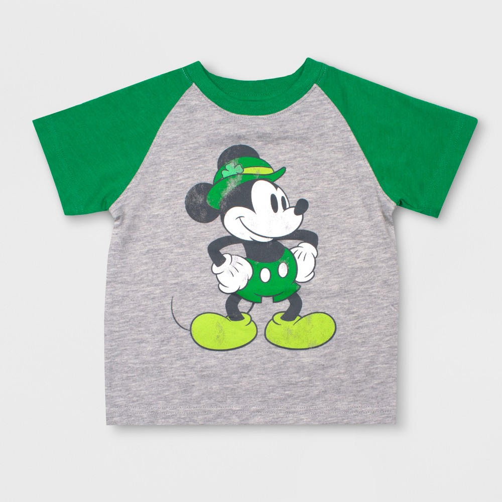 Toddler Boys' Disney Mickey Mouse & Friends Mickey Mouse Short Sleeve T-Shirt - Gray 3T
