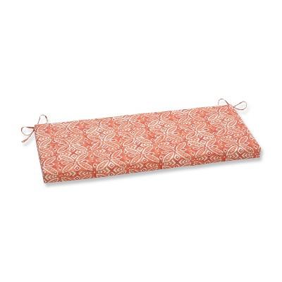 Merida Pimento Outdoor Bench Cushion Orange - Pillow Perfect