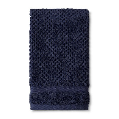 Hand Towel Performance Texture Bath Towels And Washcloths Xavier Navy - Threshold™