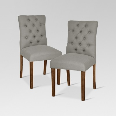 Brookline Tufted Dining Chair - Glacier (Set of 2)- Threshold™