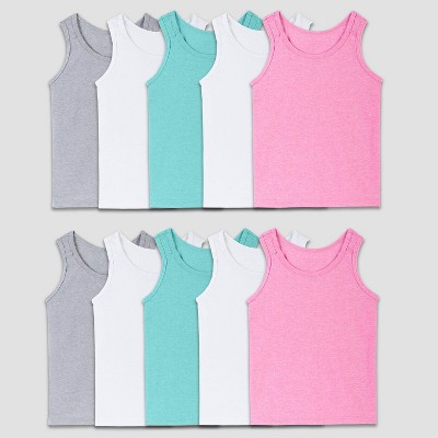 Fruit of the Loom Toddler Girls' 10pk Tank Top - Colors May Vary