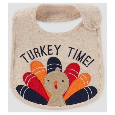 Baby Turkey Time Bib - Just One You™ Made by Carter's® Tan