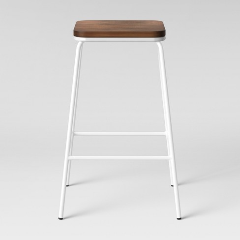 Astounding Rhodes Metal Wood Counter Stool White Project 62 Gmtry Best Dining Table And Chair Ideas Images Gmtryco