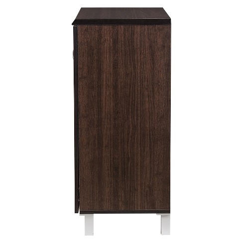 Excel Modern And Contemporary Sideboard Storage Cabinet Dark Brown Baxton Studio Target