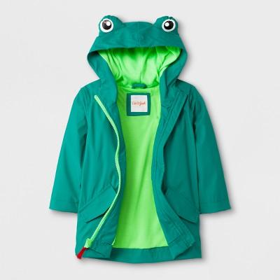 Toddler Boys' Frog Hooded Rain Jacket - Cat & Jack™ Green 12M