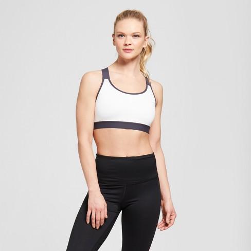 cc66a622abc9 Women s Criss-Cross Strappy Back Sports Bra - C9 Champion® White Pink