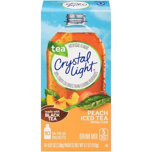 Crystal Light On The Go Peach Iced Tea Drink Mix - 10pk/0.7oz - image 1 of 2