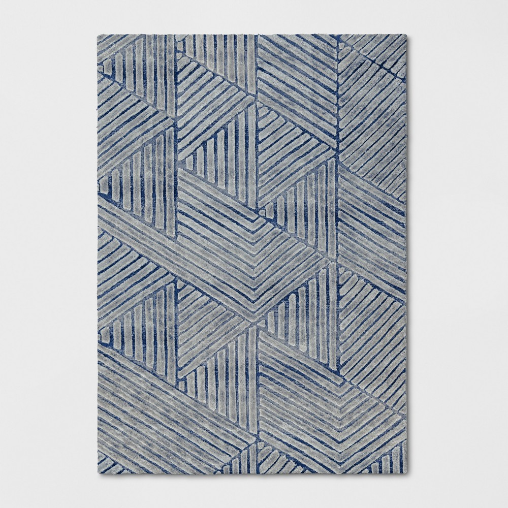 7'X10' Tufted Geometric Area Rug Blue - Project 62 was $399.99 now $199.99 (50.0% off)