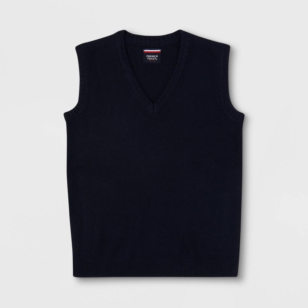 Image of French Toast Boys' Uniform V-Neck Sweater Vest - Navy XL, Boy's, Blue