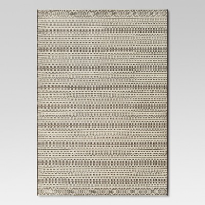 Pattern Stripe Tan Outdoor Rug - 5'x7' - Threshold™