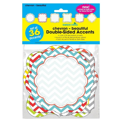 Barker Creek Bulletin Board Double-Sided Accents - Chevron - image 1 of 2