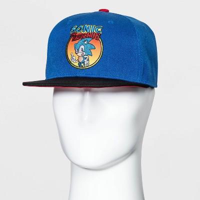 Men's Sonic the Hedgehog Flat Brim Baseball Cap - One Size