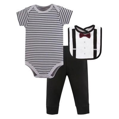 Little Treasure Baby Boy Bodysuit, Pant and Bib, Man Of Your Dreams