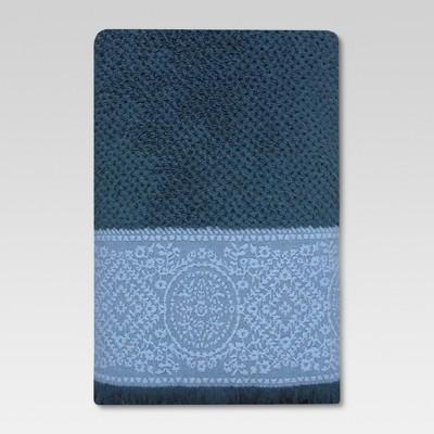 Matelasse Bath Towels Blue - Threshold™