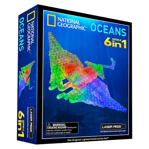 Laser Pegs National Geographic 6 in 1 Oceans Lighted Construction Toy - image 1 of 7
