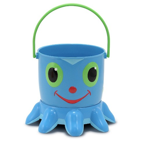 Melissa & Doug Sunny Patch Flex Octopus Sand Pail and Sifter - image 1 of 4