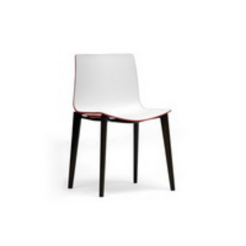 Set of 2 Soren and Modern Dining Chairs White/Red - Baxton Studio - image 1 of 4