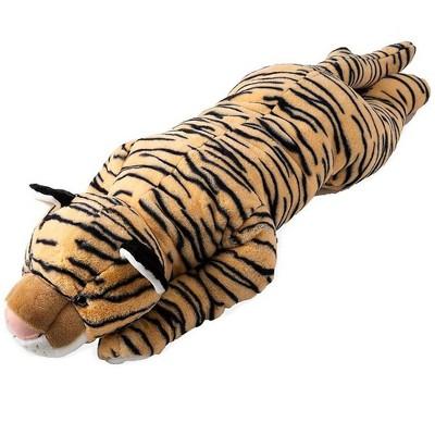 Plow & Hearth Tiger Plush Cuddle Animal Body Pillow