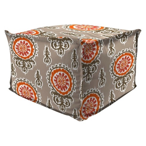 Outdoor Bean Filled Pouf/Ottoman In Michlelle Salmon  - Jordan Manufacturing - image 1 of 1