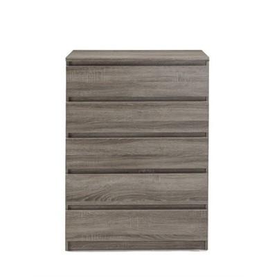 Wood Scottsdale 5 Drawer Chest in Truffle Gray-Tvilum