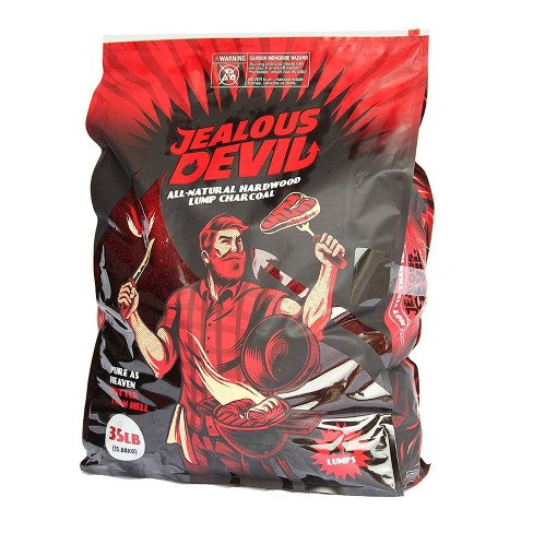 Jealous Devil 100% All Natural Hardwood Lump Charcoal for Grilling and Smoking, 35 Pound Bag - image 1 of 4