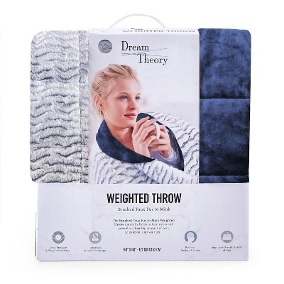 """50""""x60"""" Faux Fur Reversible To Mink Weighted Throws - Dream Theory : Target"""