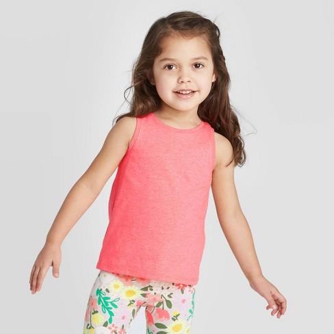Toddler Girls' Glitter Tank Top - Cat & Jack™ Pink - image 1 of 4