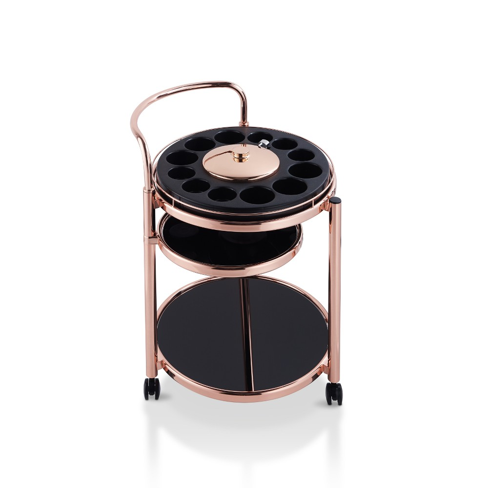 Image of Viola Contemporary Serving Cart Rose Gold - HOMES: Inside + Out, Pink