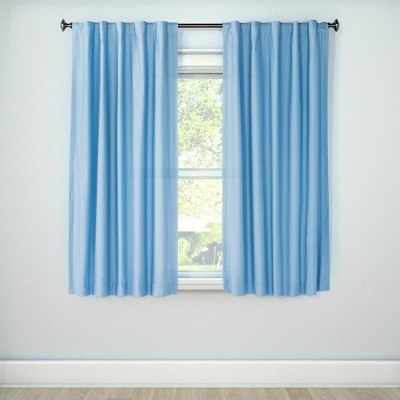 Twill Blackout Curtain Panel Blue (84 x42 )- Pillowfort™