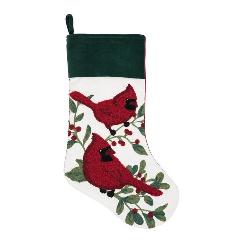 C&F Home Cardinal Berry Stocking - image 1 of 1