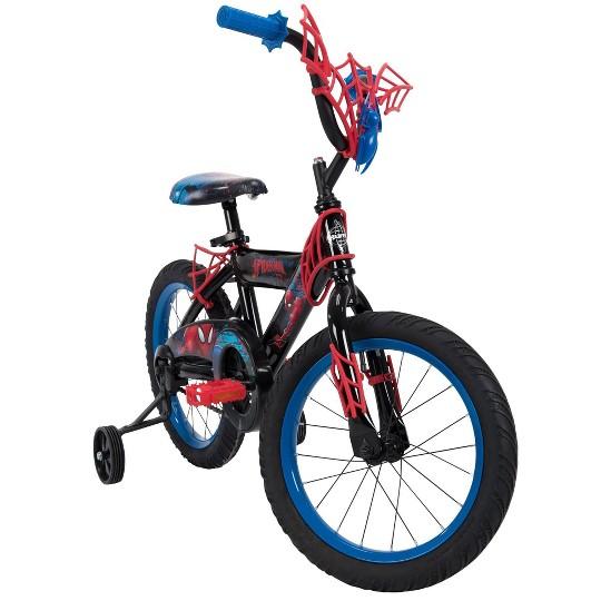 """Huffy Marvel 16"""" Spider-Man Kids' Bike - Blue image number null"""