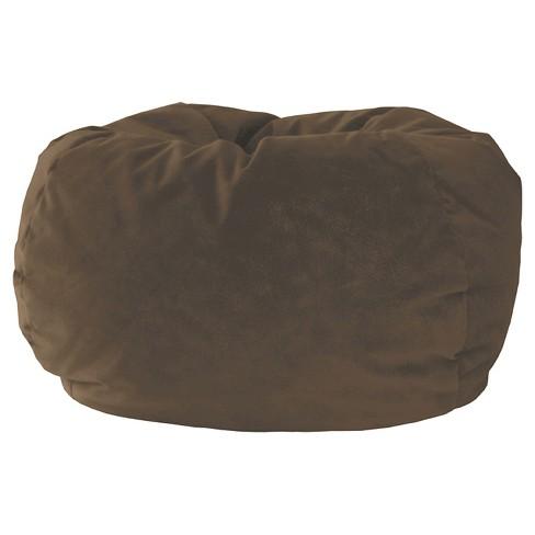 Gold Medal Kids Micro Fiber Suede Bean Bag Chair Brown