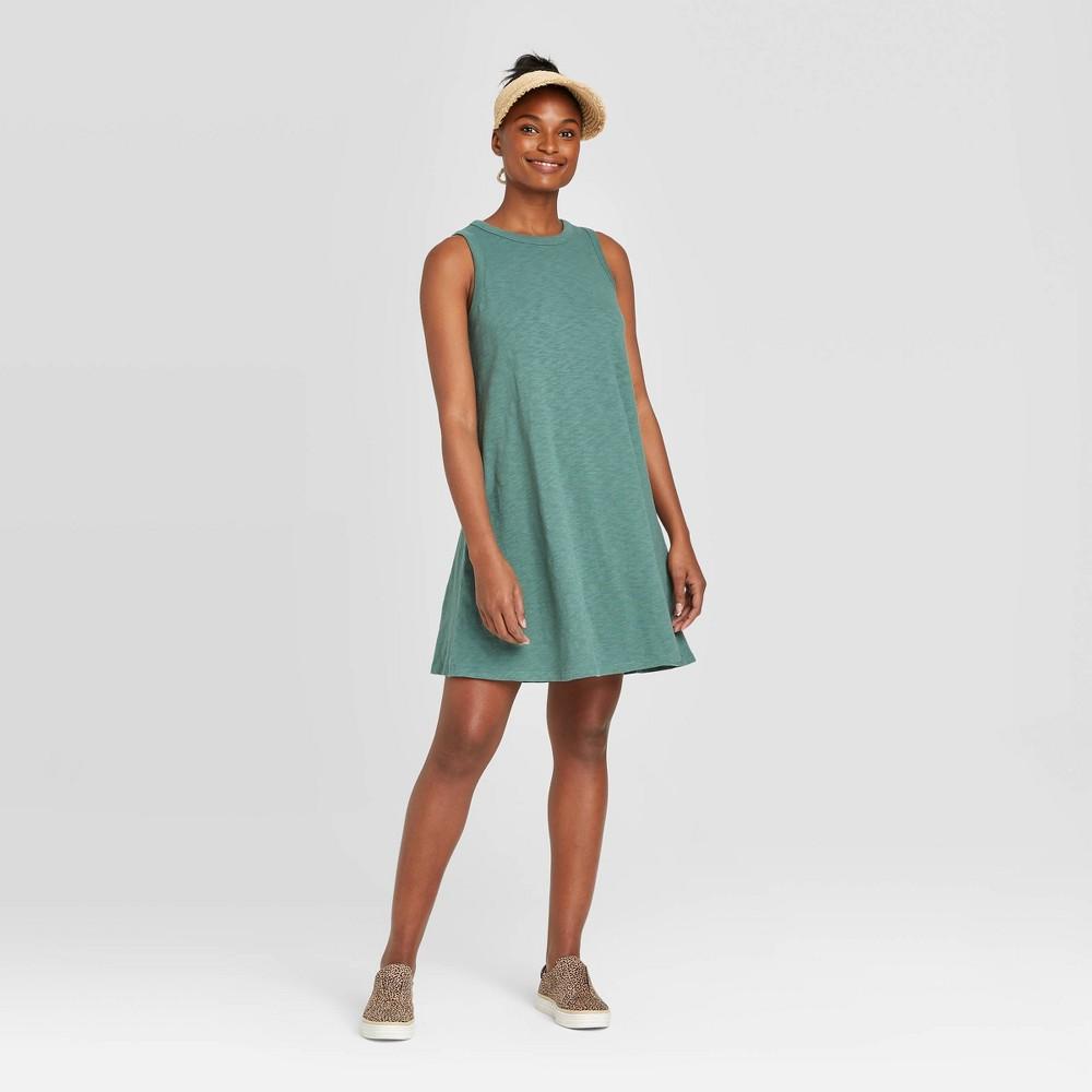 Women's Sleeveless Tank Dress - Universal Thread Green S was $15.0 now $10.0 (33.0% off)