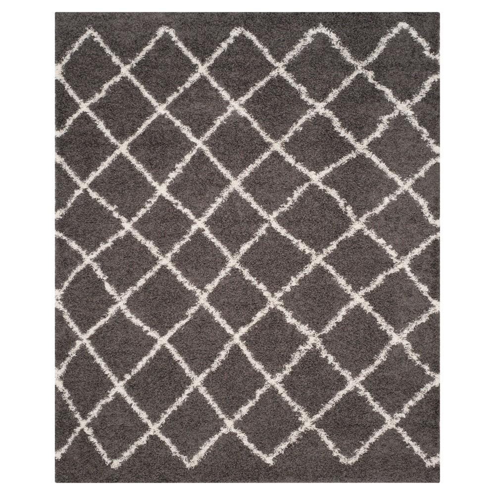 Dark Gray/Ivory Geometric Loomed Area Rug - (8'X10') - Safavieh