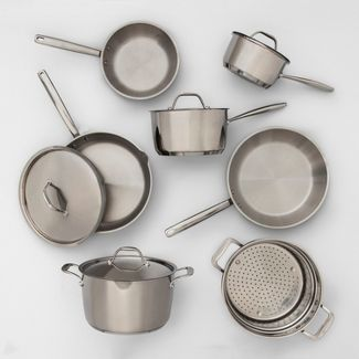 Stainless Steel Cookware Set 11pc - Made By Design™