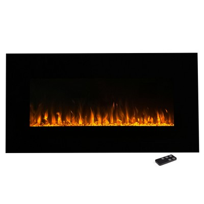 "Northwest 36"" Electric Fireplace Wall MountedLed Fire And Ice FlameWith Remote"