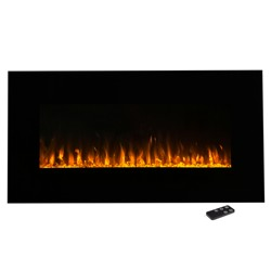 "Electric Fireplace Wall Mounted- Led Fire And Ice Flame- With Remote 36"" - Northwest"
