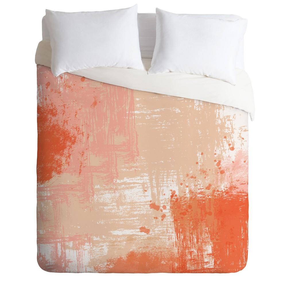 King Khristian A Howell Southern Spring Abstract Duvet Set Orange - Deny Designs