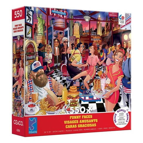 Ceaco Funny Faces: USA Diner Jigsaw Puzzle - 550 pc - image 1 of 3