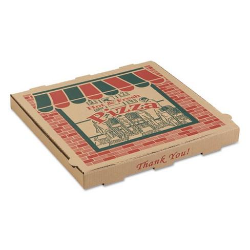 ARVCO Corrugated Pizza Boxes 10w x 10d x 1 3/4h Kraft 50/Carton 9104314 - image 1 of 1
