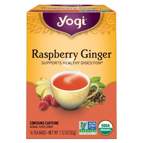 Yogi Raspberry Ginger Tea 16ct - image 1 of 1