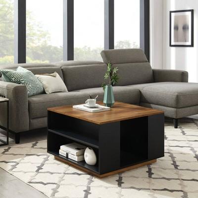 Hako Modern Square Storage Coffee Table Solid - Saracina Home