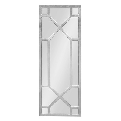 """18"""" x 47"""" Vanderford Decorative Wall Mirror Silver - Kate and Laurel"""
