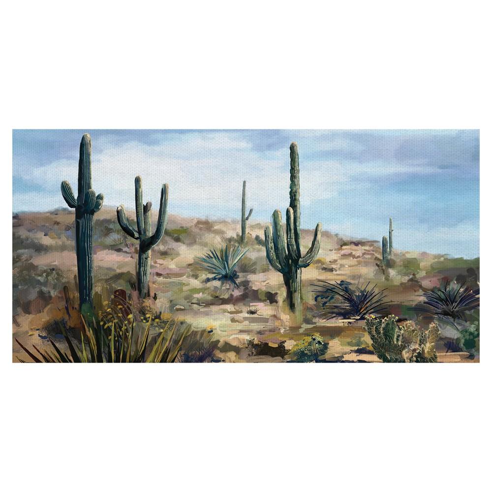 "Image of ""27""""x54"""" Desert Vista By Studio Arts Art On Canvas - Fine Art Canvas, Multi-Colored"""