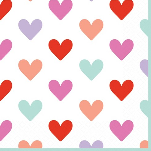 Heart Print Disposable Napkins - Spritz™ - image 1 of 1