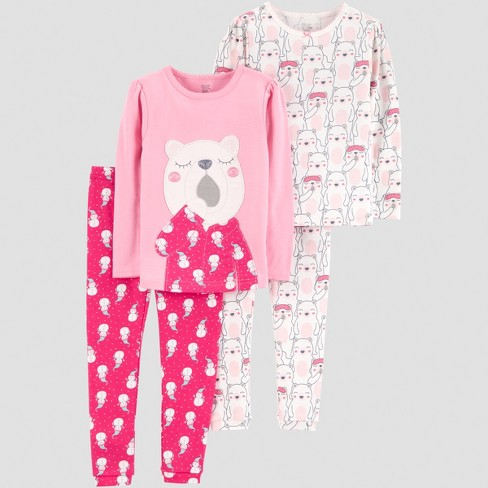 6e48629b3 Toddler Girls  4pc Bear Pajama Set - Just One You® Made By Carter s ...