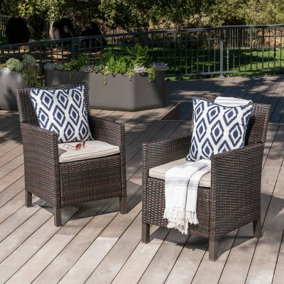 Cypress 2pk Wicker Dining Chairs - Christopher Knight Home