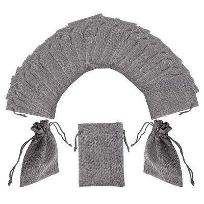Juvale 50-Pack Burlap Drawstring Gift Bags for Jewelry, Accessories, Grey (5.25 x 3.8 Inches)