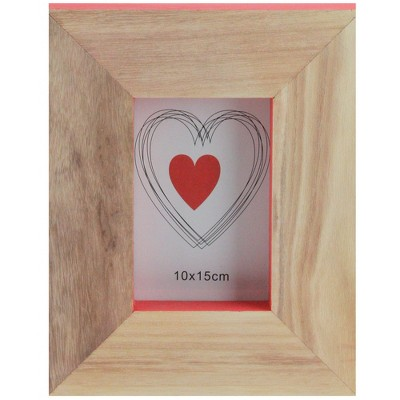 """Kaemingk 10"""" Basic Luxury Wood Picture Frame with Accented Edges - Brown/Pink"""